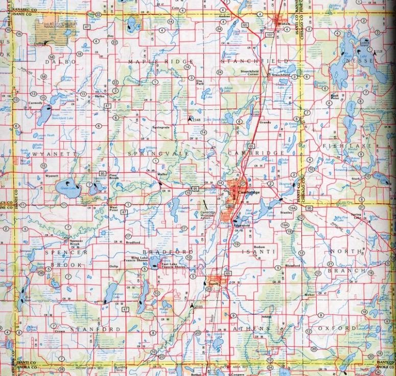 Isanti County Mngenweb Project: Isanti County Plat Map At Slyspyder.com